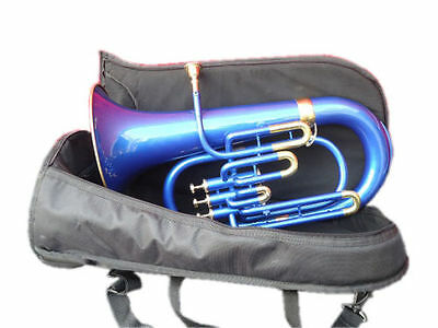 """Euphonium Bb:blue_Color_Bb""""pitch""""w-Case&mp Brass Made Tuba Great Sound Indians"""