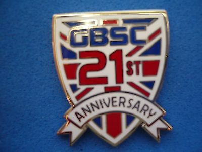 GREAT BRITAIN SUPPORTERS CLUB - 21st. ANNIVERSARY BADGE .