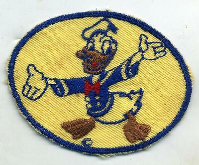 Original WWII Donald Duck Disney Patch Tan