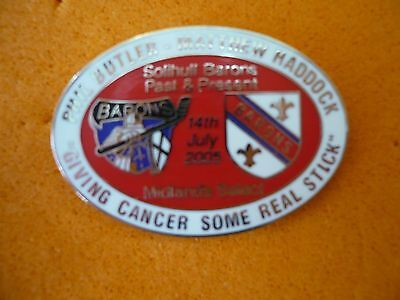 Phil Butler - Matthew Haddock - Giving Cancer Some Real Stick Badge .