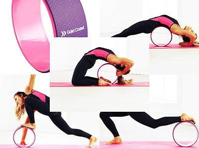 Yoga Training Wheel Pilates Stretching Exersice Fitness Sports Keep Fit Relaxing