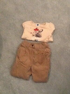 next girls cords and top set age 1 -1.5