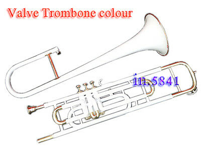 Brass-Trombone-Valve-White-Color-Bb-Professional-Mp-Hard-Case-Gifts Trumbones.
