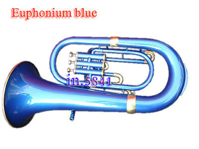 Euphonium*bb;/bluecolored Bb Pitch W-Case&mp Brass Made Tuba Great Sound Indian