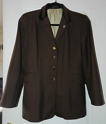 """Caldene Ladies Horse Riding Equestrian Show Jacket - Brown - Chest Size 38"""""""