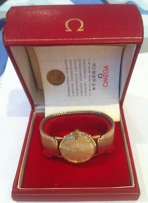 Omega 18ct Gold Mens Watch 1960's