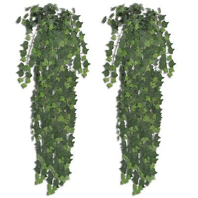 #sNEW 2 pcs Green Artificial Ivy Bush 90 cm Fake Plant Arrangement Home Decor
