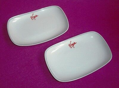 Pair Virgin Atlantic Petits Fours Dishes For An Upper Class Party! 6 Pairs Avail