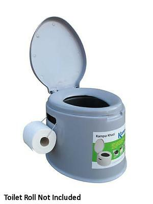 Kampa Khazi Portable Toilet, Ideal For Camping, Caravanning, Boating, Allotments