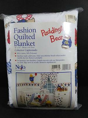 PADDINGTON BEAR Baby QUILTED BLANKET Nojo NEW IN PACKAGE B109