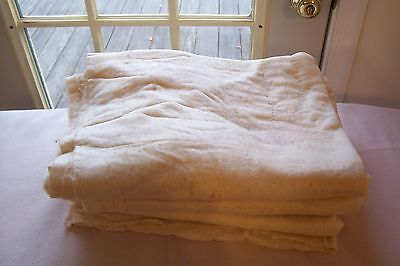 Antique Vtg 1800's THIN COTTON QUILT BATTING