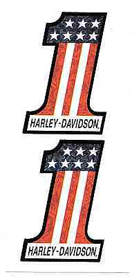 Harley Davidson Number One Decal Sticker Sheet 2 of New Window Toolbox Man Cave
