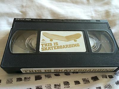Emerica- This is Skateboarding rare VHS NO COVER
