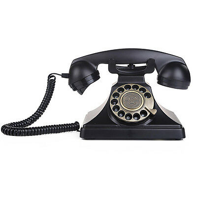 LNC Home Rotary Dial Desk Home and Office Telephone