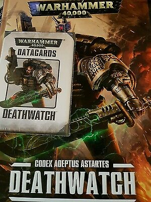 Warhammer 40k CODEX: Deathwatch (hb)  plus out of print datacards (Brand NEW)