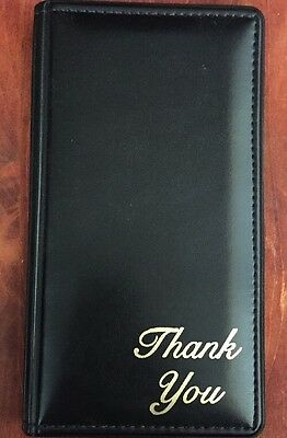 Waitress Pad Check Presentation Book / Credit Card Holder Padded Thank You NEW