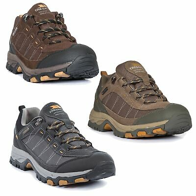 new style 7a933 50fbd Trespass Scarp Mens Walking Waterproof Trainers Hiking Shoes in Brown   Grey