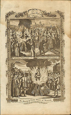1776. suffering & death in the reign of mary 1st . the burning of cicely ormes