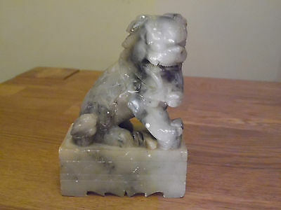 Vintage/antique Saopstone Carving Of A Dog Of Foo