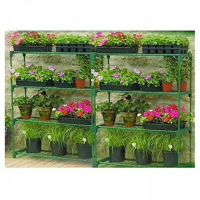 Gardman Steel Garden Greenhouse Storage & Shelving Staging - Double Pack