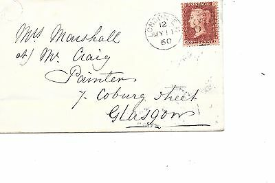 Great Britain  sg 40  1d red  Victorian Stamp on Cover