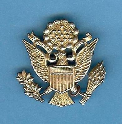 USA Eagle Patriotic Pin WWII, Sterling Silver Gilt