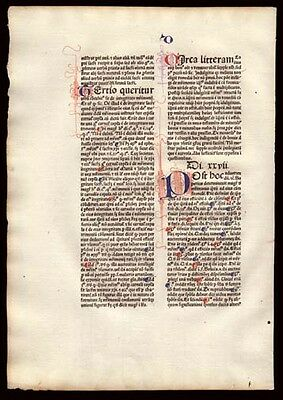 1477 Early Incunable Commentary on  Sentences of Peter Lombard Bishop of Paris