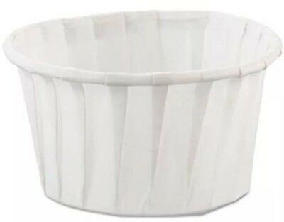 Solo 4  oz paper portion Soufflés cups 250 Count Jello Shot Condiment