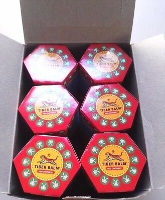 30 g X 12 PCS  Tiger Balm Red Relief of Muscular Aches Pain Sprains Ointment