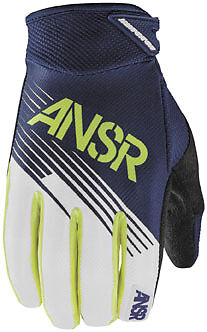 Answer Syncron 2015 Youth MX Offroad Gloves Lime Green/Blue XL