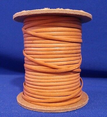 Vtg TEXAS LACING TANDY Light Tan 3/32 CALF LEATHER Craft Western Lace 50 Yd Used