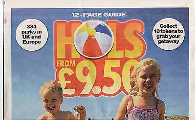The Sun Hols From £9.50 - Booking Form + All 10 Tokens Needed