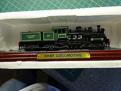 TRAIN SHAY LOCOMOTIVE Atlas Edition On Plinth Never Been Out Of Box