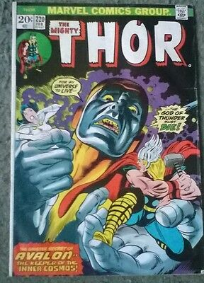 marvel comics - the mighty thor #220,feb 1974,in fn- grade,bagged & boarded