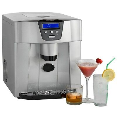 VonShef Digital Ice Maker and Dispenser Machine with LCD Display - Counter Top
