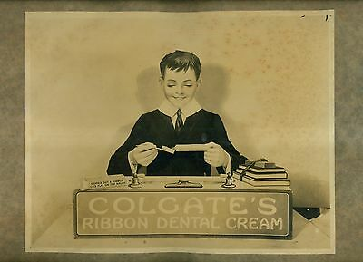 1920's Colgate's Dental Cream Ad Printer's Photographic Proof Mounted on Board