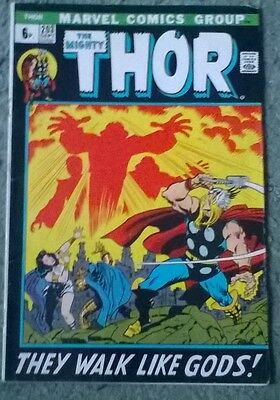 marvel comics - the mighty thor # 203,sept 1972,fn-,grade,bagged & boarded