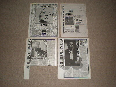 Job Lot of 4 x The Smiths / Morrissey Original music press adverts from 1980s