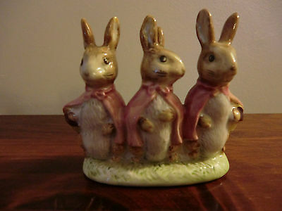 "BESWICK BEATRIX POTTER ""FLOPSY MOPSY AND COTTONTAIL""  BP-3b BROWN BACKSTAMP"