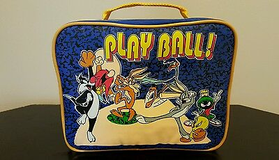 "Looney Tunes ""Play Ball""  Lunch Box with Thermos 1994 New without tags"