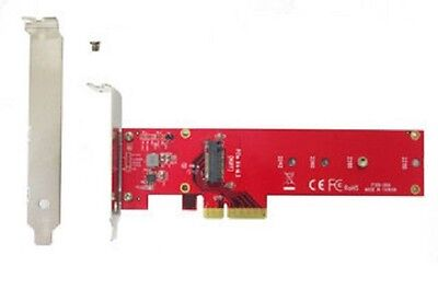 Lycom DT-129, PCIe 3.0 x4 3.3V5A Host Adapter for PCIe-NVMe M.2 110mm SSD