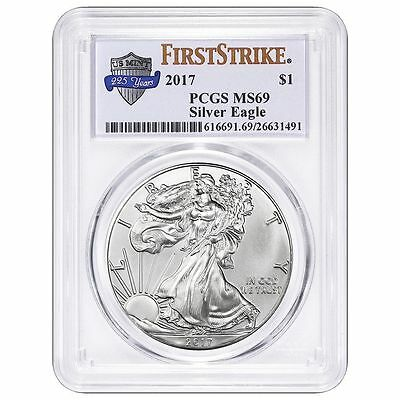 Presale- 2017 $1 American Silver Eagle PCGS MS69 225th Anniversary First Strike