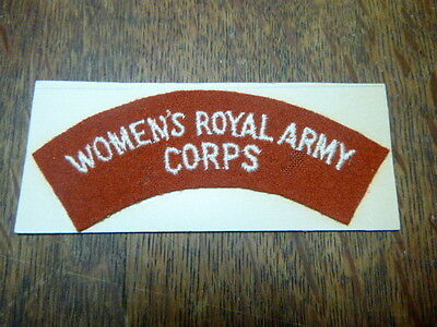 A  World War Two  British Royal Army Embroidered Wool Patch