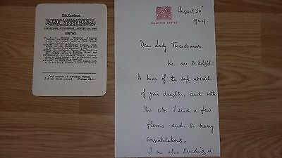 ELIZABETH - The QUEEN MOTHER - Royal / Royalty - Autograph Letter Signed - 1949