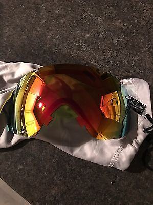 Smith IO I/o Red Sol X Lens Replacement Snowboard Goggles Ski New