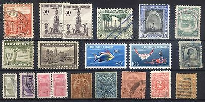 Colombie - lot timbres anciens