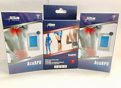 3 LOT HiDow Hi-Dow AcuXPD Micro Physical Therapy Massager + 1 FREE GIFT AcuBelt!