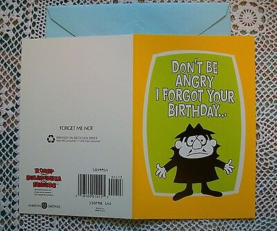 ROCKY & BULLWINKLE Boris Badenov Vintage Belated Birthday Greeting Card