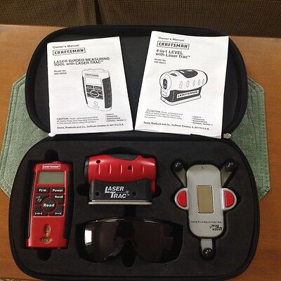 CRAFTSMAN 4-in-1 LASER TRAC LEVEL WITH CARRYING CASE AND LASER ENHANCING GLASSES