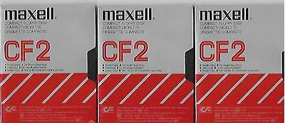 3 Maxell Compact Floppy Disk Cf2 Maxell Made In Japan New Factory Sealed